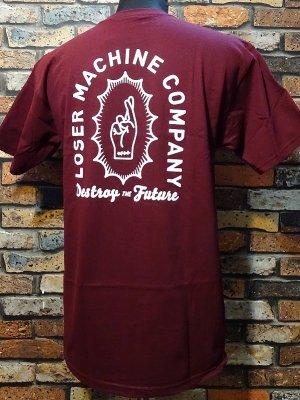 LOSER MACHINE ルーザーマシーン Tシャツ (Catacomb) カラー:バーガンディー