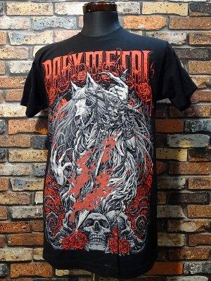 BABYMETAL ベビーメタル(べビメタ) USA正規ライセンスTシャツ(ROSE WOLF) カラー:ブラック