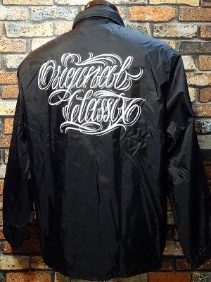 OG Classix オージークラッシックス ナイロンコーチジャケット (original script coach jacket) カラー:ブラック