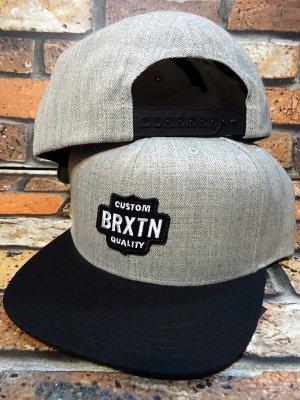 BRIXTON ブリクストン スナップバック キャップ (GARTH SNAPBACK CAP) カラー:ブラックxグレー