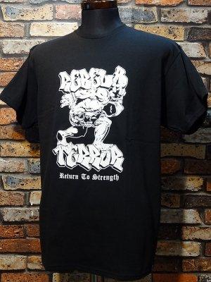 REBEL8 x TERROR レベルエイト Tシャツ  RETURN TO STRENGTH カラー:ブラック