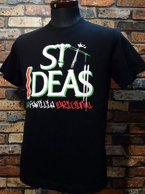 LA FAMILIA ORIGINAL ラ ファミリアオリジナル Tシャツ (Crooked) カラー:ブラック
