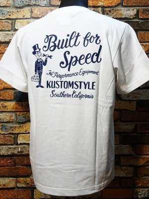 kustomstyle カスタムスタイル Tシャツ (KST1801WH) build for speed カラー:ホワイト