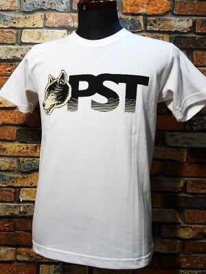 parasite パラサイト 7.1ozTシャツ wolf pst  カラー:ホワイトxブラック