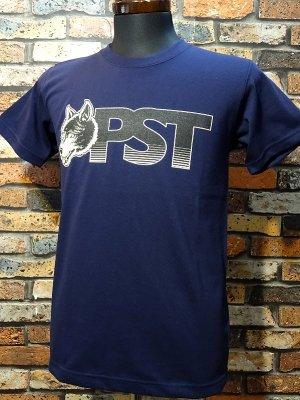 parasite パラサイト 7.1ozTシャツ wolf pst  カラー:ネイビーxブラック