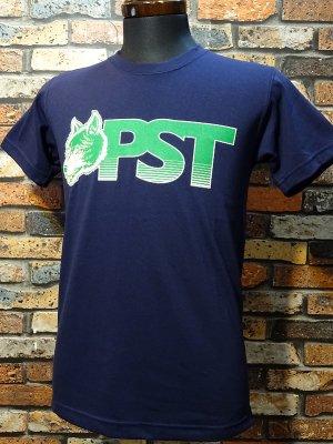 parasite パラサイト 7.1ozTシャツ wolf pst  カラー:ネイビーxグリーン