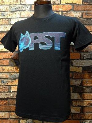 parasite パラサイト 7.1ozTシャツ wolf pst  カラー:ブラックxブルー