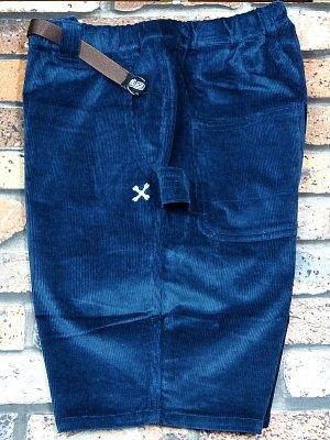 Bluco ブルコ  ストレッチ コーデュロイ イージーペインターショーツ (OL-005C-018) corduroy easy painter shorts カラー:ブルー