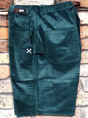 Bluco ブルコ  ストレッチ コーデュロイ イージーペインターショーツ (OL-005C-018) corduroy easy painter shorts カラー:グリーン