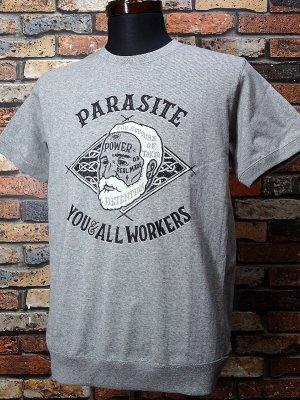 parasite パラサイト 7.1ozサイドパネルTシャツ OLD MAN  カラー:グレー