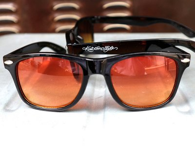 kustomstyle カスタムスタイル トイサングラス (KSSG-012-004) paradise toy sunglass black/orange gradation lens