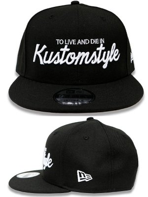 kustomstyle スナップバックキャップ (KSCP1813BK) to live and die in new era 9fifty snap back cap カラー:ブラック