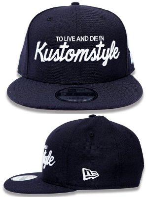 kustomstyle スナップバックキャップ (KSCP1813NY) to live and die in new era 9fifty snap back cap カラー:ネイビー