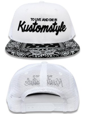 kustomstyle カスタムスタイル メッシュキャップ(KSCP1813WHMESH) to live and die in bandana mesh cap  カラー:ホワイト