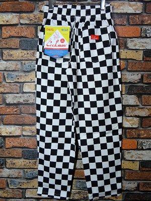 Cookman クックマン Chef Pants シェフパンツ ルーズフィット イージーパンツ (Checker) コックパンツ カラー:ブラックxホワイト