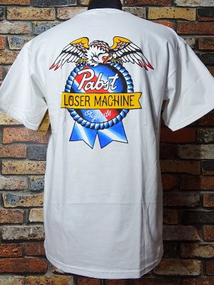 LOSER MACHINE x PABST BLUE RIBBON BEER AMERICAN ORIGINAL カラー:ホワイト
