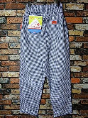 Cookman クックマン Chef Pants シェフパンツ ルーズフィット イージーパンツ (Gingham) コックパンツ カラー:ネイビーxホワイト
