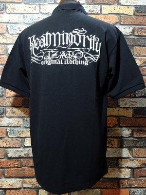 RealMinority リアルマイノリティー ポロシャツ  (SPIRAL) ビッグシルエットドロップショルダー  カラー:ブラック