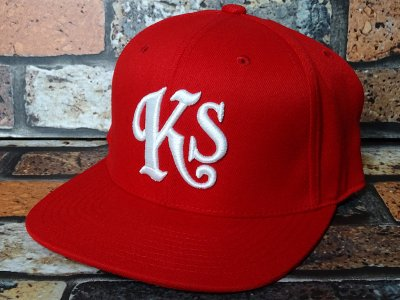 kustomstyle スナップバックキャップ (KSCP1208RD) Ks snap back cap カラー:レッド