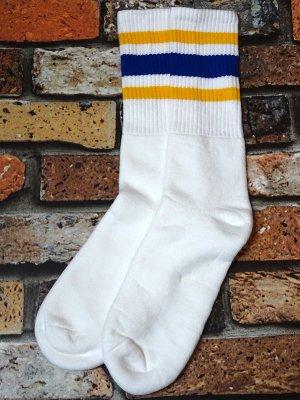 SOCCO SOCKS  ハイソックス  (MC21) Striped Socks カラー:イエローxブルー ライン
