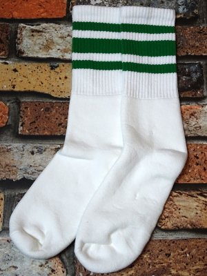 SOCCO SOCKS  ハイソックス  (MC32) Striped Socks カラー:グリーン ライン