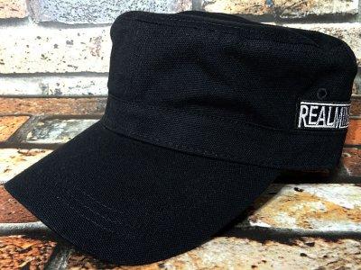 Real Minority リアルマイノリティー  ワークキャップ (TRADE MARK LOGO) カラー:ブラック