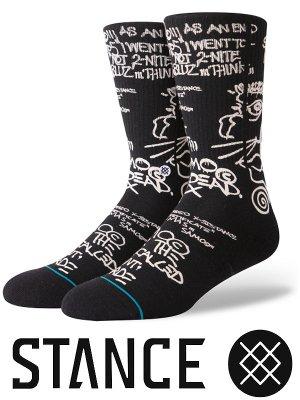 STANCE SOCKS スタンスソックス  (SAMO IS DEAD)  カラー:ブラック