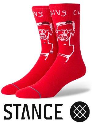 STANCE SOCKS スタンスソックス  (BASQUIAT CASSIUS)  カラー:レッド