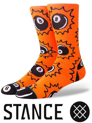 STANCE SOCKS スタンスソックス  (SCRATCHES)  カラー:オレンジ