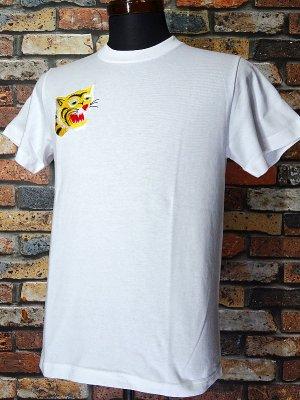 Parasite パラサイト Tシャツ (EMBROIDERY-TIGER)  カラー:ホワイト