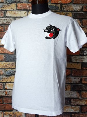 Parasite パラサイト Tシャツ (EMBROIDERY-PANTHER)  カラー:ホワイト