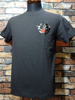 Parasite パラサイト Tシャツ (EMBROIDERY-PANTHER)  カラー:チャコール