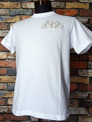 Parasite パラサイト Tシャツ (EMBROIDERY-ROSE)  カラー:ホワイト