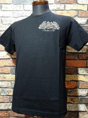 Parasite パラサイト Tシャツ (EMBROIDERY-ROSE)  カラー:ブラック