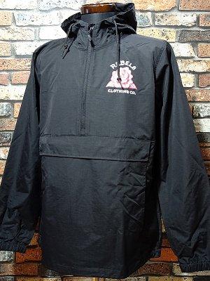 REBEL8 レベルエイト  プルオーバー シェルジャケット thorns anorak jacket  カラー:ブラック
