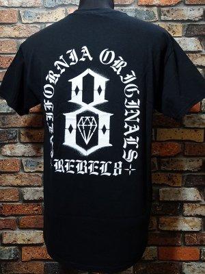 REBEL8 レベルエイト Tシャツ  FORTITUDE カラー:ブラック