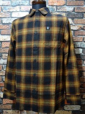 Hard Luck ハードラック  長袖フランネル チェックシャツ (ASTRO SUPREME FLANNEL SHIRTS)  カラー:ブラウン系