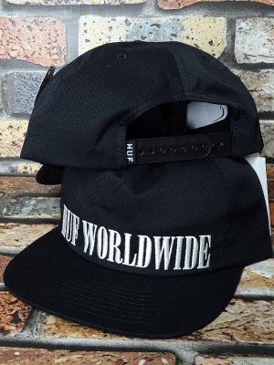 HUF ハフ スナップバックキャップ SERIF SNAPBACK CAP カラー:ブラック