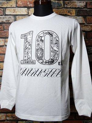 parasite パラサイト ロングスリーブTシャツ (10th anniversary) カラー:ホワイト