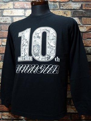 parasite パラサイト ロングスリーブTシャツ (10th anniversary) カラー:ブラック