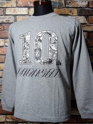 parasite パラサイト ロングスリーブTシャツ (10th anniversary) カラー:グレー