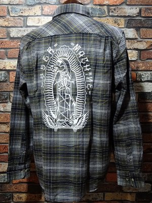 LOSER MACHINE ルーザーマシーン 長袖フランネル チェックシャツ (Hacienda Printed Shirt) カラー:グレー系