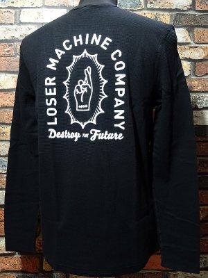 LOSER MACHINE ルーザーマシーン サーマルロングスリーブTシャツ(Boneyard)  カラー:ブラック