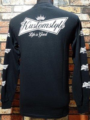 kustomstyle カスタムスタイル ロングスリーブTシャツ(KSTL1816BK) bud long sleve tee カラー:ブラック