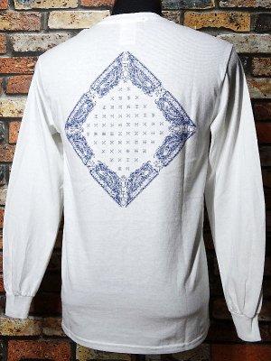 kustomstyle カスタムスタイル ロングスリーブTシャツ(KSTL1820WH) FC BANDANA long sleve tee カラー:ホワイト