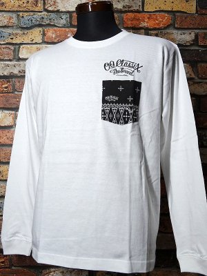 OG Classix オージークラッシックス ロングスリーブTシャツ (RC SKULL long sleeve) bandana pocket  カラー:ホワイト
