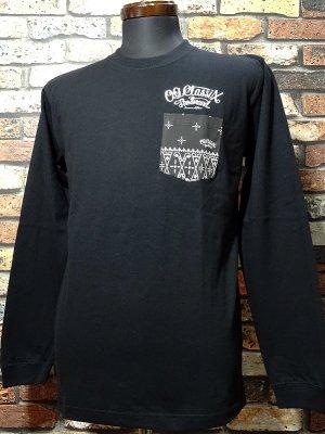 OG Classix オージークラッシックス ロングスリーブTシャツ (RC SKULL long sleeve) bandana pocket  カラー:ブラック