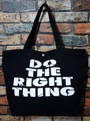 RealMinority リアルマイノリティー 2WAY キャンバス トートバッグ (Do the right thing) カラー:ブラック