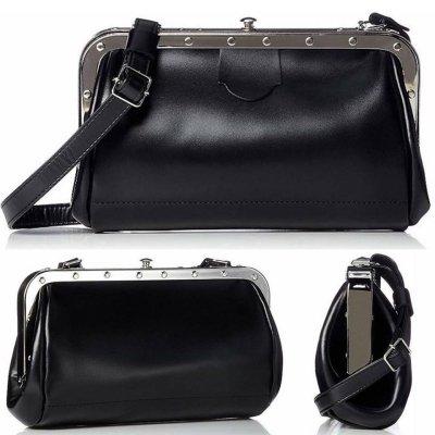 Train Conductor レザーショルダーバッグ leather bag カラー:ブラック