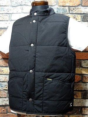BLUCO ブルコ  キルティング ワークベスト (OL-059-018) quilting vest  カラー:ブラック